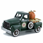Small Pumpkin Harvest Truck - Dark Green