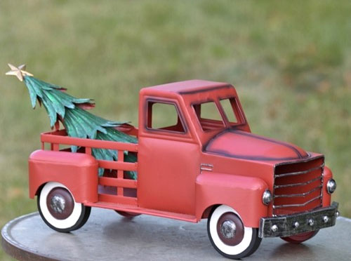 Small Red Truck w/Christmas Tree only $69.99 at Garden Fun