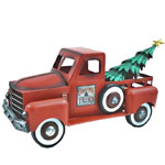 Small Red Truck w/Christmas Tree