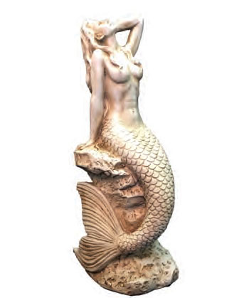 Small Sexy Mermaid - Antique White - Click to enlarge