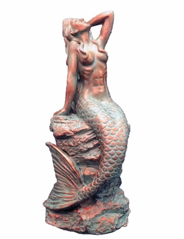 Sexy Mermaid - Bronze Patina - Click to enlarge