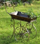 Small Victorian Flower Cart w/Moving Wheels
