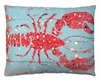 Snappy Lobster Outdoor Pillow