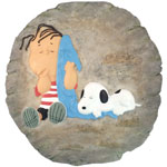 Snoopy & Linus Stone/Wall Plaque