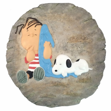 Snoopy & Linus Stone/Wall Plaque - Click to enlarge