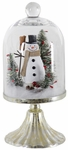 Snowman Dome on Pedestal w/LED Timer