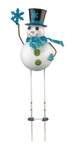 Snowman Garden Stake - Click to enlarge