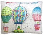 Soaring Balloons Outdoor Pillow