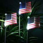 Solar USA American Flags (Set of 3)