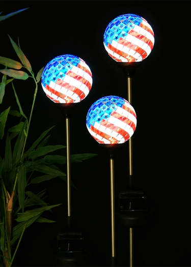 Solar Americana Mosaic Globes (Set of 3) - Click to enlarge