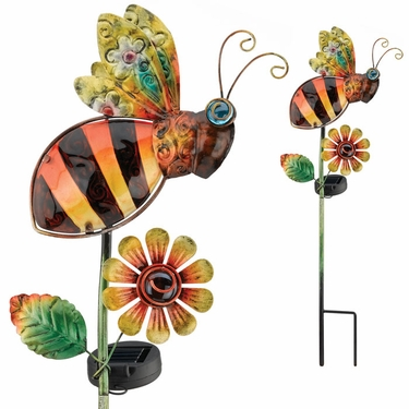 Solar Bee Garden Stake - Click to enlarge