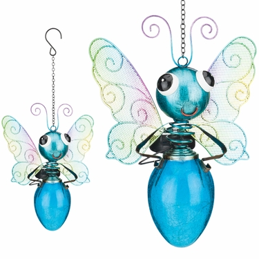 Solar Butterfly Lantern - Blue - Click to enlarge