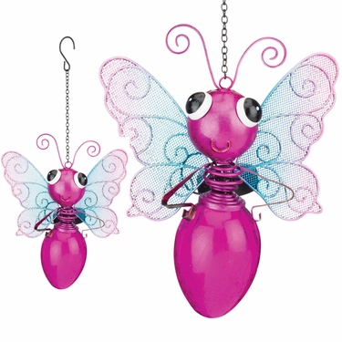 Solar Butterfly Lantern- Pink - Click to enlarge