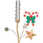 Solar Candy Cane Bubble Stake
