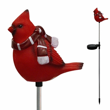 Solar Cardinal Holiday Stake - Click to enlarge