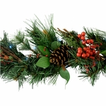 Solar Christmas Lighted Garland