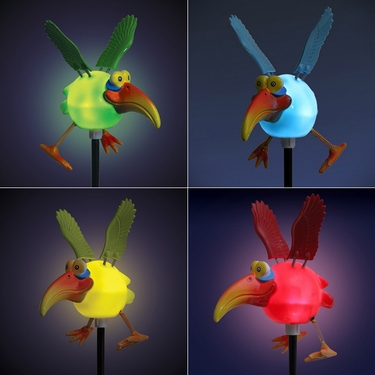 Solar Dodo Bird Garden Stakes (Set of 4) - Click to enlarge