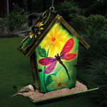 Solar Dragonfly Lantern Bird Feeder