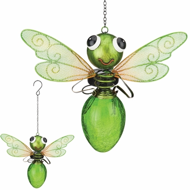 Solar Dragonfly Lantern - Green - Click to enlarge
