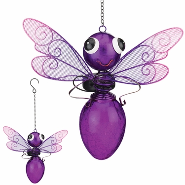 Solar Dragonfly Lantern - Purple - Click to enlarge