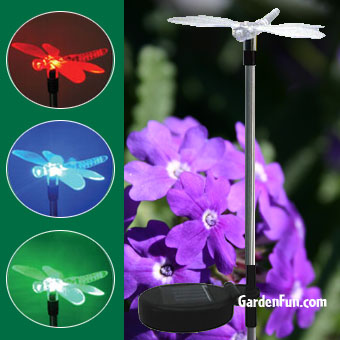 Solar Dragonfly Light Garden Stake Click To Enlarge