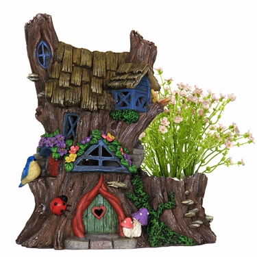 Solar Fairy House Planter - Click to enlarge