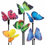 Solar Fiber-Optic Butterflies (Set of 3)