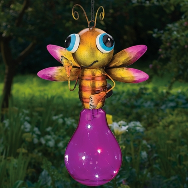 Solar Firefly Lantern - Pink - Click to enlarge