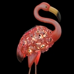 Solar Flamingo Bird Stake