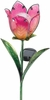 Solar Glass Flower - Pink Tulip