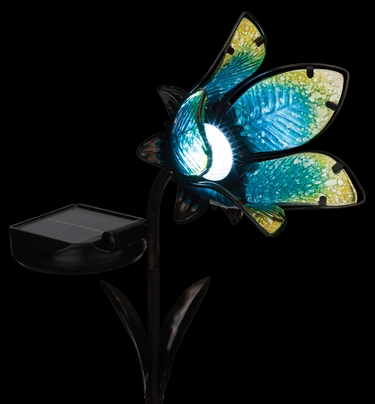 Solar Flower Spot Light - Blue - Click to enlarge