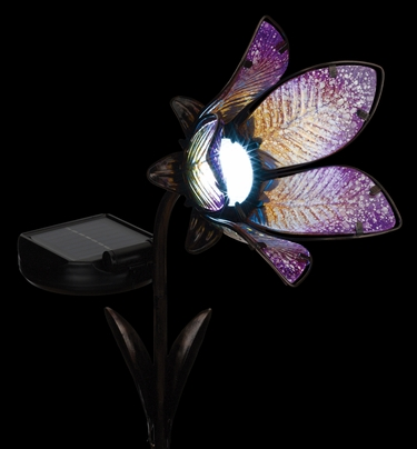 Solar Flower Spot Light - Pink - Click to enlarge