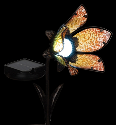 Solar Flower Spot Light - Yellow - Click to enlarge