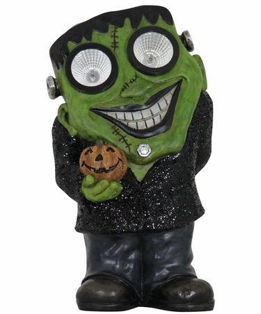 Solar Frankenstein Statue w/LED Eyes - Click to enlarge