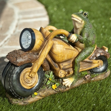 Solar Frog Motorcycle Statuary - Click to enlarge