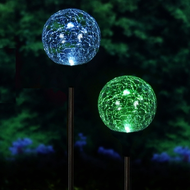 Solar Garden Globes - Color-Changing (Set of 2) - Click to enlarge