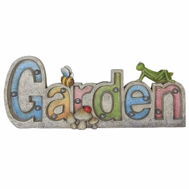 Solar Garden Sign Marquee - Click to enlarge