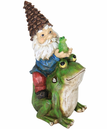 Solar Gnome Riding Frog - Click to enlarge
