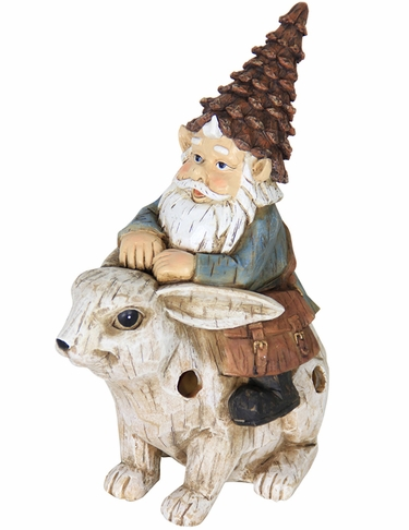 Solar Gnome Riding Rabbit - Click to enlarge