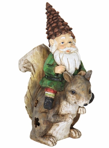 Solar Gnome Riding Squirrel - Click to enlarge
