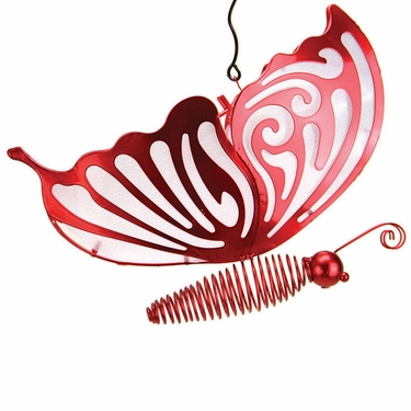 Solar Hanging Butterfly - Red - Click to enlarge