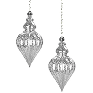 Solar Hanging Drop Points (Set of 2) - White - Click to enlarge
