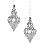 Solar Hanging Drop Points (Set of 2) - White