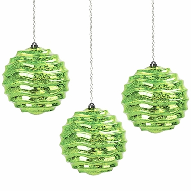 Solar Hanging Green Orbs (Set of 3) - Click to enlarge