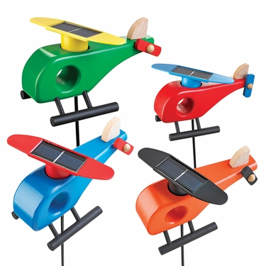 Solar Helicopter Garden Stakes (Set of 4) - Click to enlarge