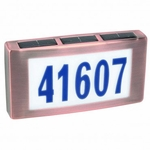 Solar House Numbers - Copper Finish