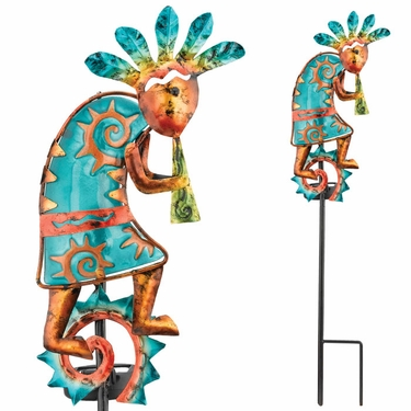 Solar Kokopelli Garden Stake - Click to enlarge