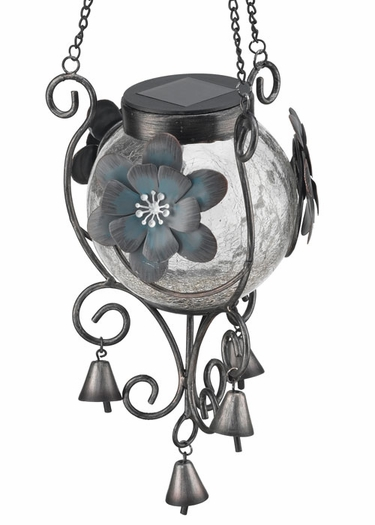 Solar Lantern - Blue Flower - Click to enlarge