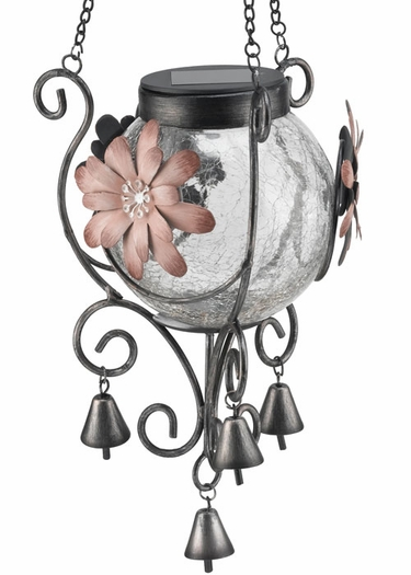 Solar Lantern - Pink Flower - Click to enlarge