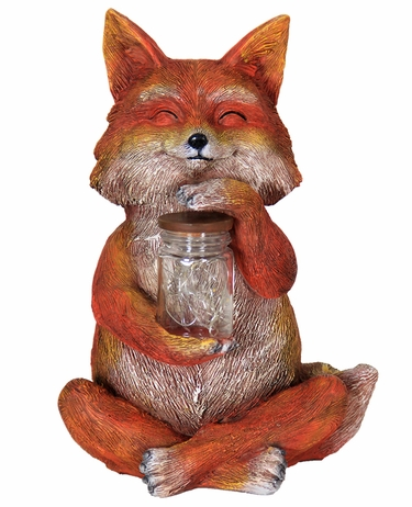 Solar LED Fox w/Jar of Fireflies - Click to enlarge